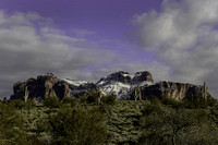 Superstition Mountain after a Winter Storm. Lost Dutchman State